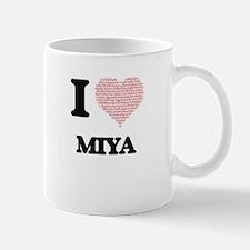 I love Miya (heart made from words) design Mugs