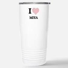 I love Miya (heart made Stainless Steel Travel Mug