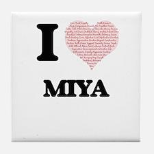 I love Miya (heart made from words) d Tile Coaster