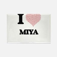 I love Miya (heart made from words) design Magnets