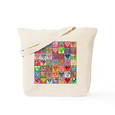 Sale: Heart Quilt Tote Bag