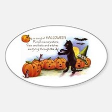 Halloween Nineteen Store Oval Decal