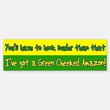 Honk Louder Green Cheek Amazon Bumper Bumper Bumper Sticker