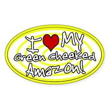 Hypno I Love My GC Amazon Oval Sticker Yellow