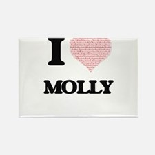 I love Molly (heart made from words) desig Magnets