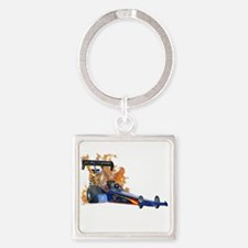 Flaming Top Fuel Keychains