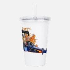 Flaming Top Fuel Acrylic Double-wall Tumbler