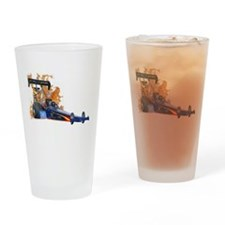 Flaming Top Fuel Drinking Glass