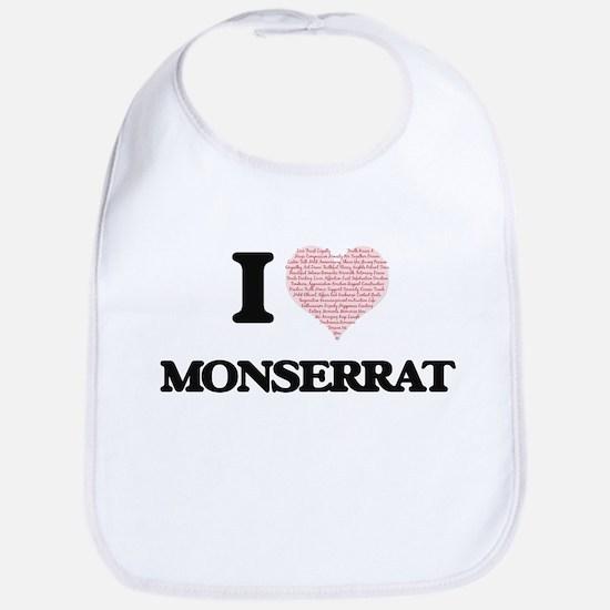 I love Monserrat (heart made from words) desig Bib