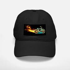 Bike flame blue Baseball Hat