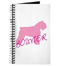 Pink Bouvier With Text Journal