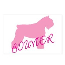 Pink Bouvier With Text Postcards (Package of 8)