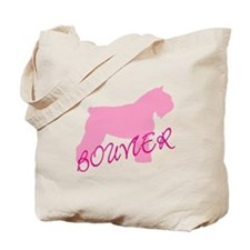 Pink Bouvier With Text Tote Bag