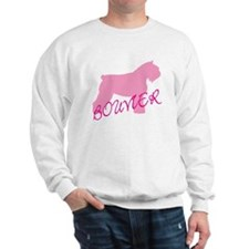 Pink Bouvier With Text Sweatshirt