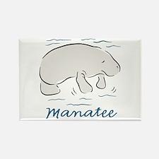 Manatee Rectangle Magnet