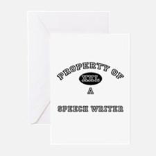 Property of a Speech Writer Greeting Cards (Pk of