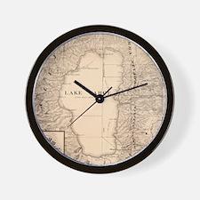 Vintage Map of Lake Tahoe Calfornia (18 Wall Clock