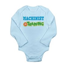 Cute Machinist Long Sleeve Infant Bodysuit