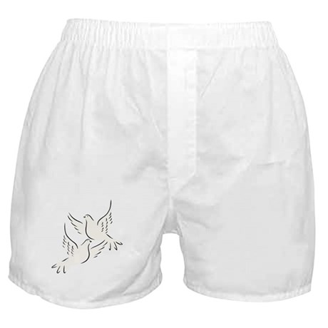 White Doves Boxer Shorts