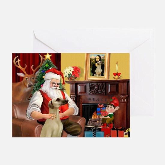 Santa's Sloughi Greeting Card