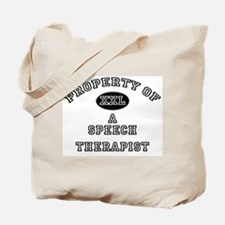 Property of a Speech Therapist Tote Bag