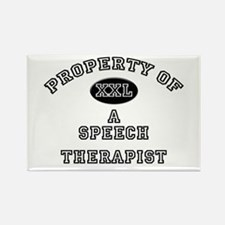 Property of a Speech Therapist Rectangle Magnet