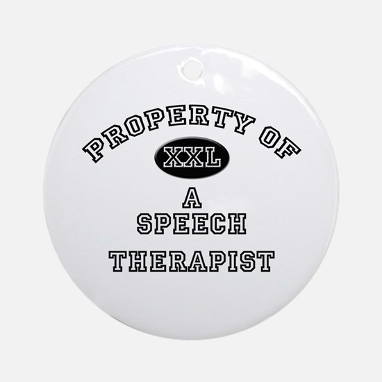 Property of a Speech Therapist Ornament (Round)