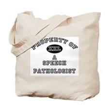Property of a Speech Pathologist Tote Bag