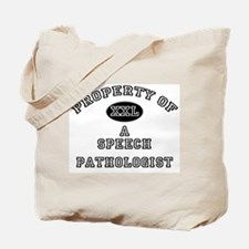 Property of a Speech Pathologist Tote Bag