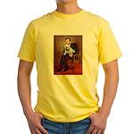 Lincoln's English Bulldog Yellow T-Shirt