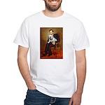 Lincoln's English Bulldog White T-Shirt
