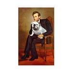 Lincoln's English Bulldog Sticker (Rectangle)