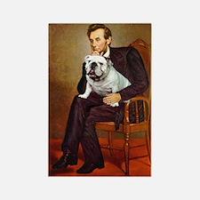 Lincoln's English Bulldog Rectangle Magnet