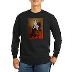 Lincoln's English Bulldog Long Sleeve Dark T-Shirt