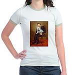 Lincoln's English Bulldog Jr. Ringer T-Shirt