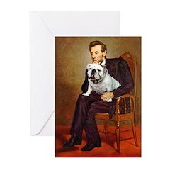 Lincoln's English Bulldog Greeting Cards (Pk of 20