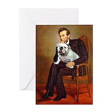 Lincoln's English Bulldog Greeting Card