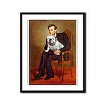 Lincoln's English Bulldog Framed Panel Print