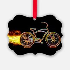 Bike flame orange Ornament