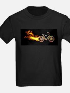 Bike flame orange T-Shirt