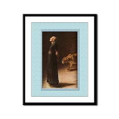 Daniel in the Lion's Den-Rivere-9x12 Framed Print