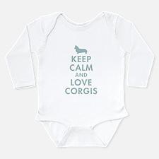 Cool Welsh corgis Long Sleeve Infant Bodysuit