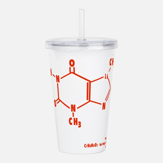 Chocolate Molecule Acrylic Double-wall Tumbler
