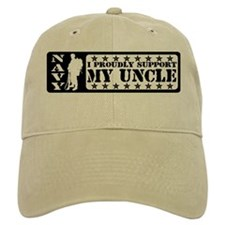 Proudly Support Uncle - NAVY Baseball Cap