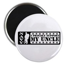 Proudly Support Uncle - NAVY Magnet