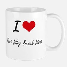 I love Port Wing Beach West Wisconsin artist Mugs