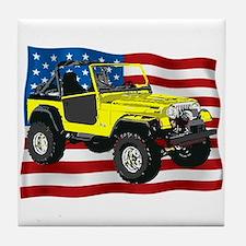 Patriotic CJ Tile Coaster