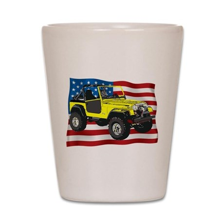 Patriotic CJ Shot Glass by SandbaggerDesigns