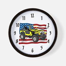 Patriotic CJ Wall Clock