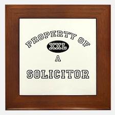 Property of a Solicitor Framed Tile